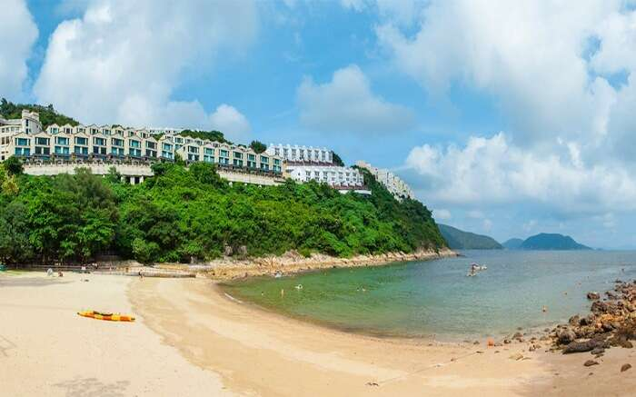 View of Turtle Cove Beach in Hong Kong
