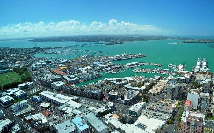Aerial view of Waitemata Harbour