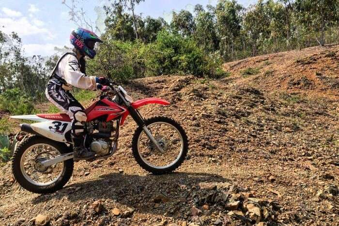 anam learning dirt biking