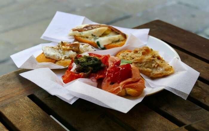 A plate of delicious Cicchetti