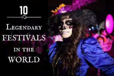 A scene from the Dia de Muertos that is one of the legendary festivals of the world