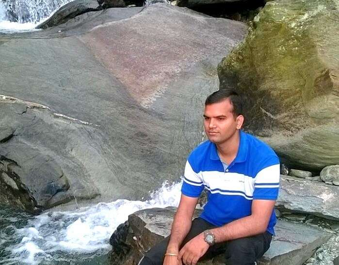 Dushyant at the waterfalls in Mcleodganj