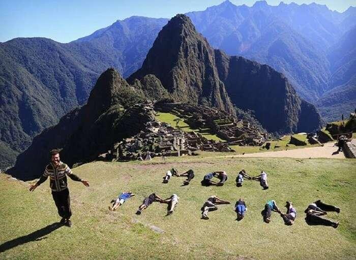 Jonathan Quiñonez at Machu Pichu in bolivia