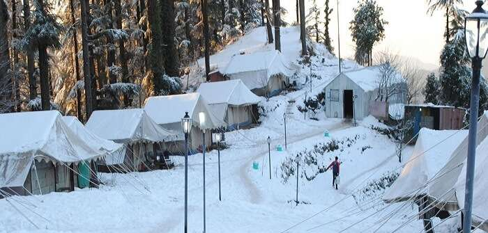 A snap from one of the places for snow camping in Kanatal