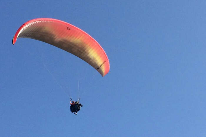 the members of the group engaging in paragliding