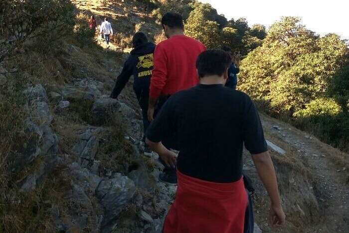 Group on a trekking adventure