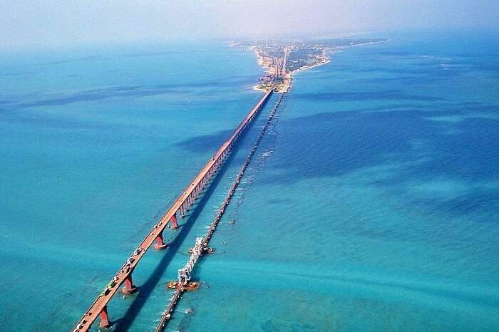 Pamban Bridge in Rameswaram Island