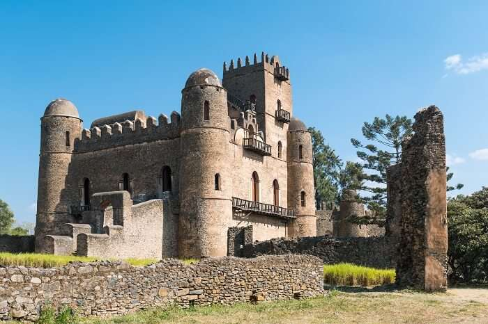 The Emperor Palace at Gondar in Ethiopia