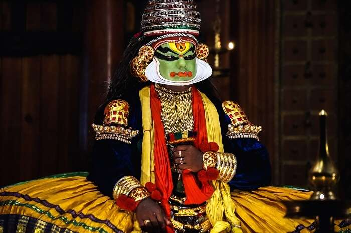 A kathakali dancer from Kerala