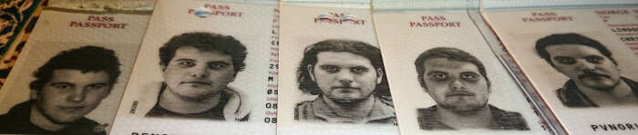 Christian's passport pictures