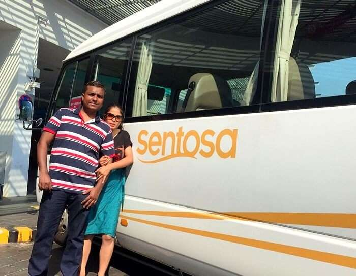Govind and his family going to Sentosa Island