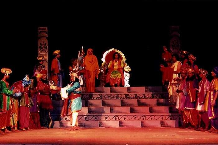 A play in progress during Hampi Utsav
