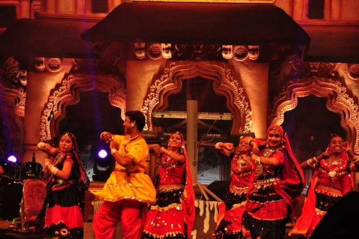 Group dance performed during Hampi Utsav