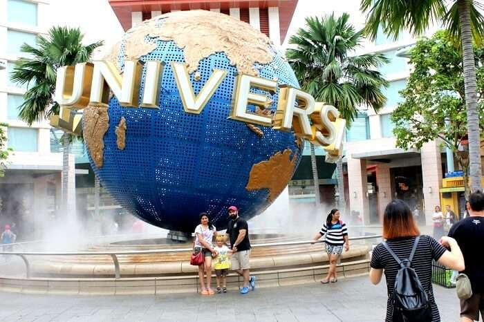 Family time at Universal Studios