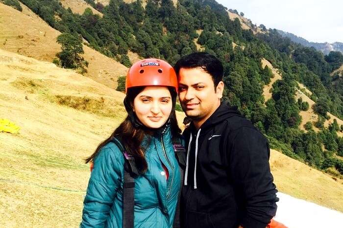 After a successful flight of Paragliding