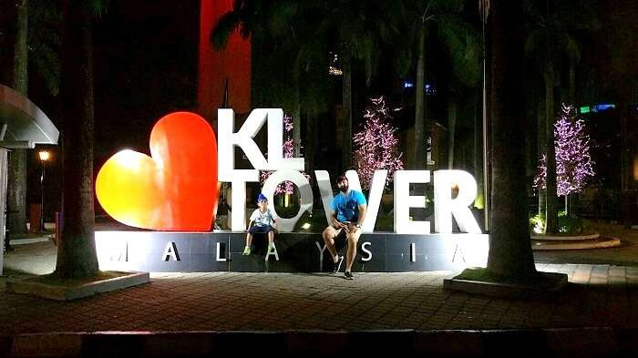 Outside KL Tower in Malaysia