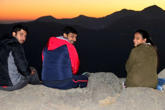 waiting for the sun to rise in mukteshwar