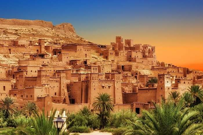 A sunset snap of the Kasbah Ait Ben Haddou in the Atlas Mountains of Morocco