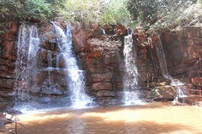 The serene Murga Mahadev Falls at Barbil in Orissa