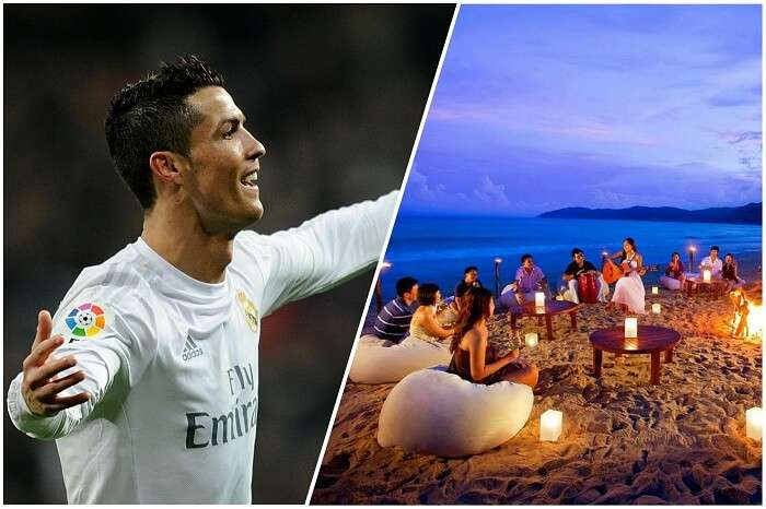 Ronaldo being welcomed to Goa