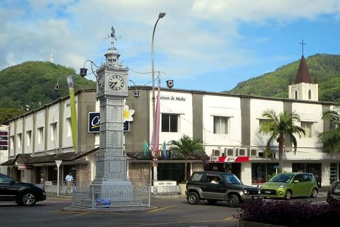 old monument in seychelles