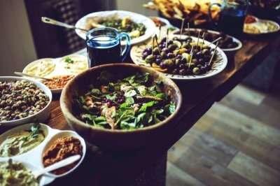 Food delicacies at a vegan restaurant in Buenos Aires