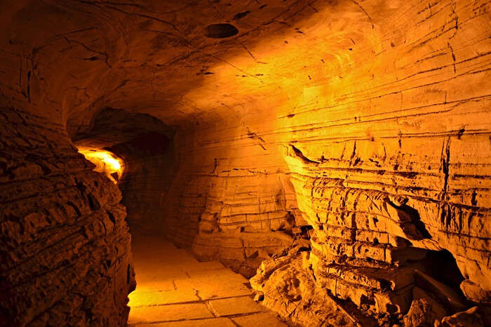 The well-lit Belum Caves in Andhra Pradesh