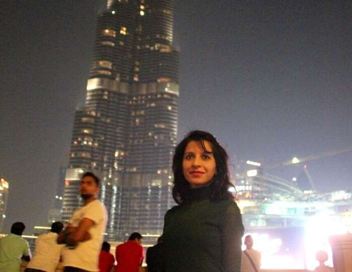 Parags wife in Dubai