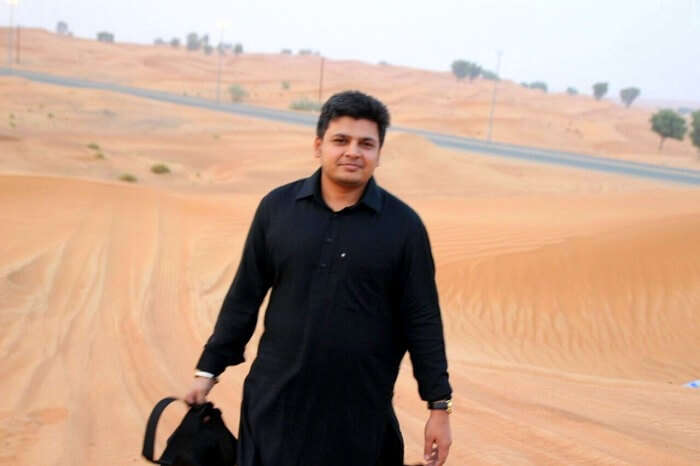 Parag at the Dubai Desert Safari