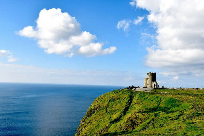 Stunning view overlooking the cliffs of Moher