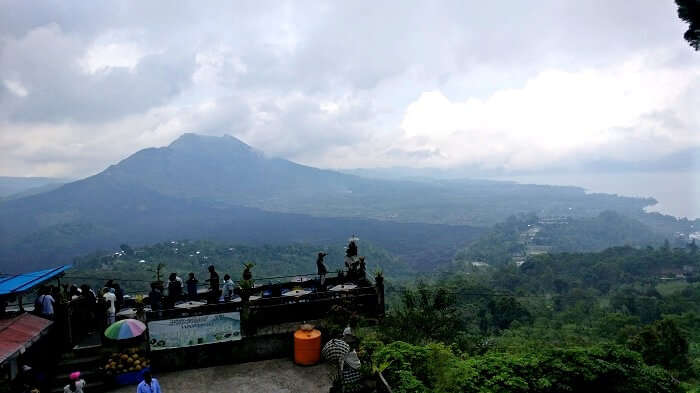 Views of mountains from the hilltop