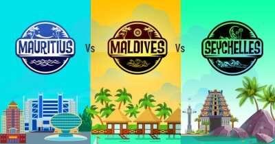 Mauritius vs Maldives vs Seychelles infographic