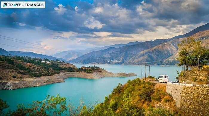Beautiful view of the Tehri lake
