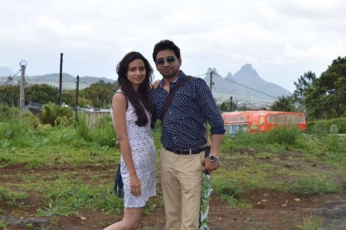 Couple enjoy honeymoon in Mauritius