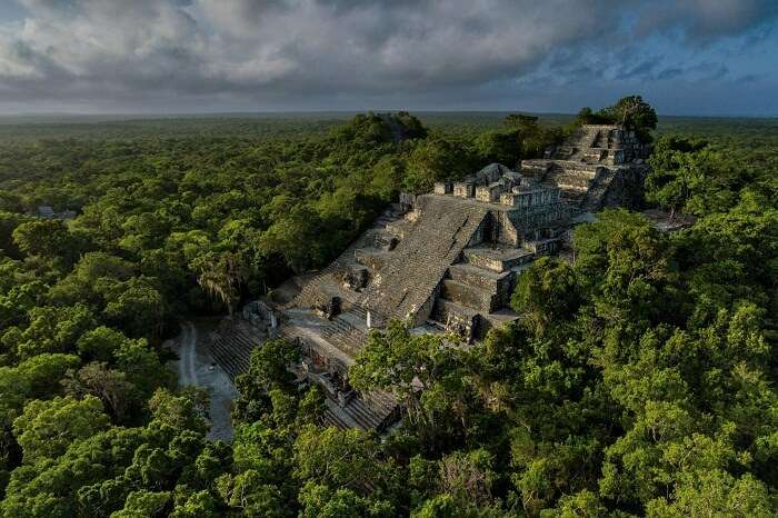 The Calakmul city hidden in the forest of Mexico