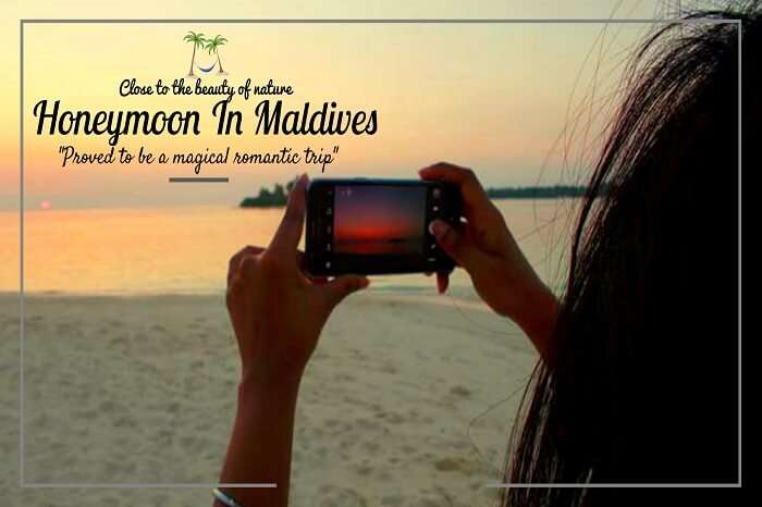 Clicking sunset at the beach