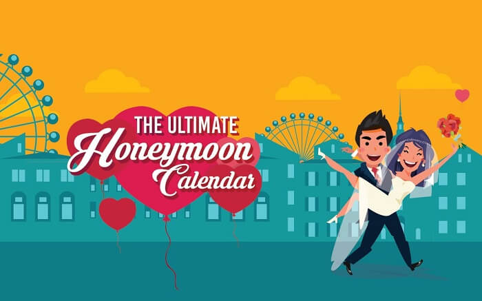 A poster for the ultimate honeymoon calendar