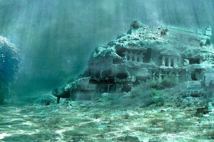 The submerged city of Heracleion in Egypt