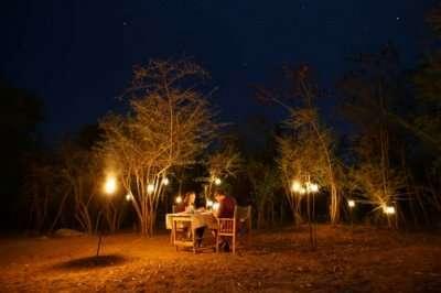 Couple on a romantic dinner in Sri Lanka