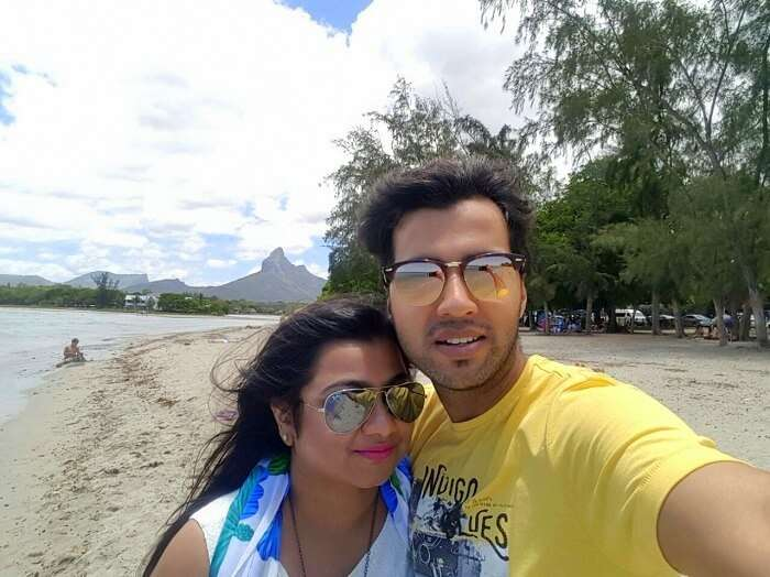 Shashi on a romantic trip to Mauritius with his wife
