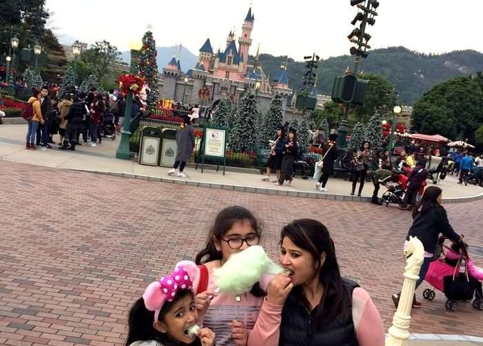 having a fun day in disneyland hong kong