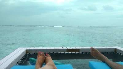 couple enjoying Maldives