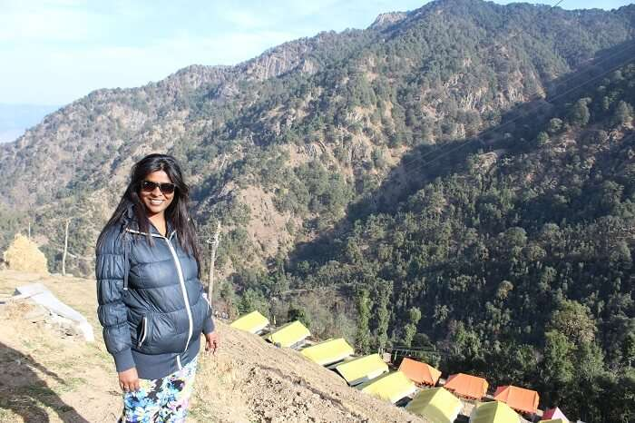 above the camp side in Dhanaulti