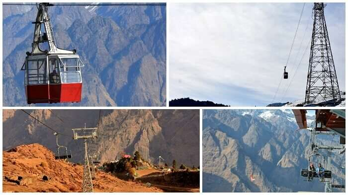 Collage showing Auli-Joshimath ropeway