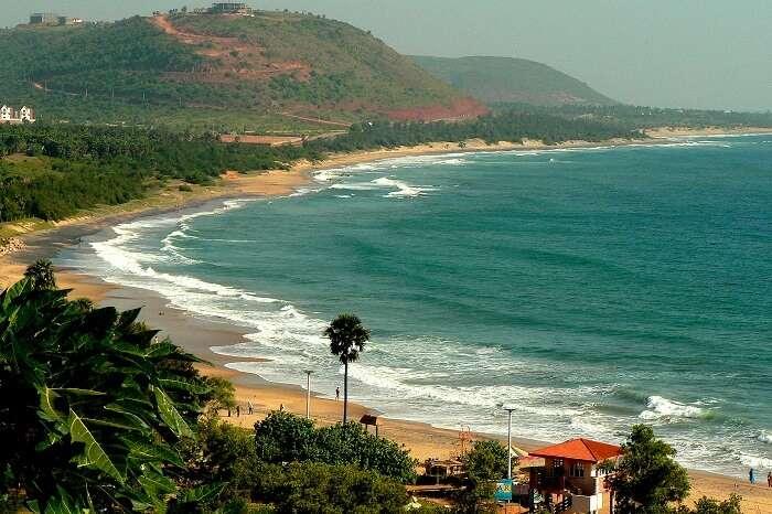 The Rushikonda Beach in Andhra Pradesh