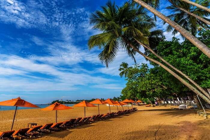 Unawatuna beach in Galle