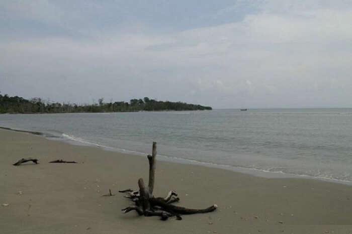 An evening shot of the offbeat Baludera Beach in Andaman