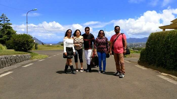 Sandeep with his friends and family doing the south island tour