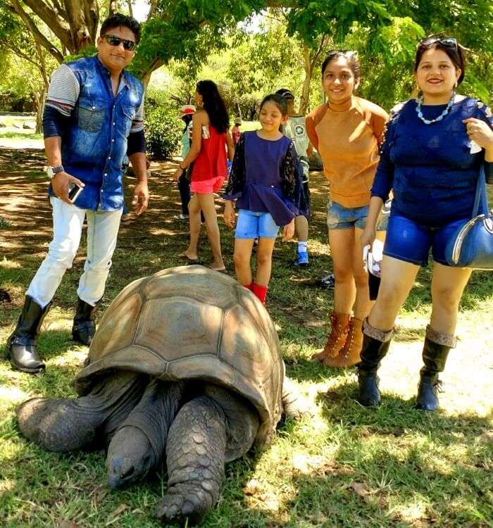 Travelers at the Casela Nature Park