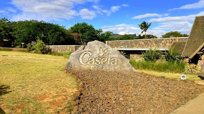 Casela nature park entrance in mauritius